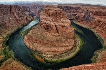 horseshoe bend colorado river view