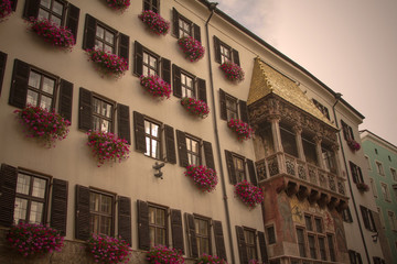 Flowers with gold at Innsbruck roof