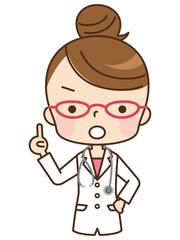女性 医師 表情