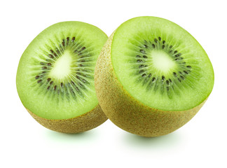 Double kiwi isolated on white background