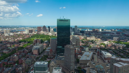 Aerial timelaspe of Boston skyline - Massachusetts - USA