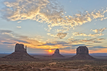 Monument Valley Arizona view at sunset