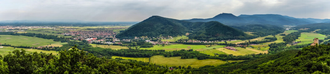 Panoramic view of Alsace mountains