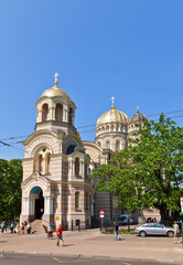 Nativity of Christ Cathedral (1884) in Riga, Latvia