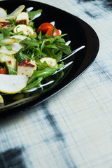 Classic salad with pear
