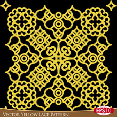 Vector Yellow Lace Pattern