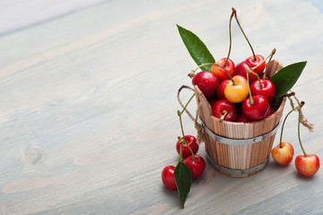The bucket of cherries