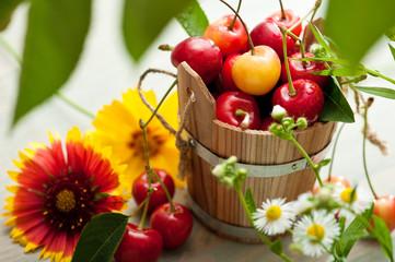 The bucket of cherries