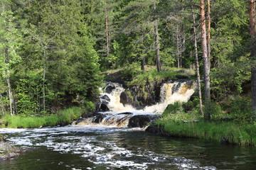 Водопад Карелии