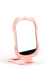 Mirror isolated white background