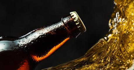 frozen beer bottle