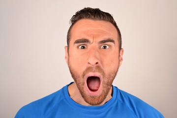 man shouting angry
