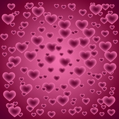 background with hearts - Valentine's day, vector