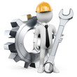 3D white people. Mechanical Engineer