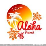 Fototapety aloha, hawaii, leaves, hibiscus, floral, illustrations