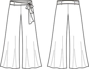 Vector illustration of women's summer pants