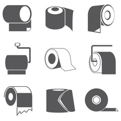 toilet paper roll icons
