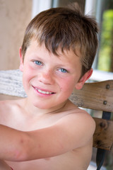 Portrait - Enfant heureux et souriant