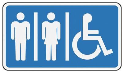 WC-Symbol mit Reflektieruntergrund