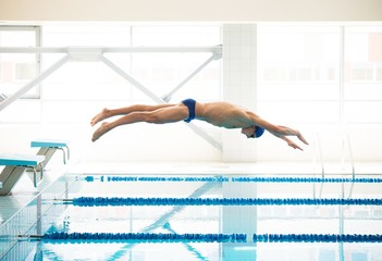 Swimmer in a swimming pool
