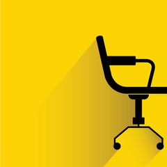 chair on yellow background
