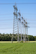 Power pylons and high voltage lines
