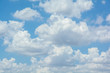 canvas print picture - white clouds on blue sky