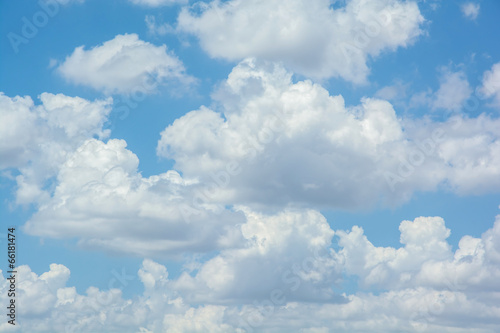 white clouds on blue sky - 66181474