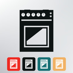 gas stove icon.