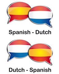 Spanish - Dutch translator clouds
