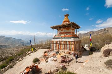 Buddhist stupa, Upper Mustang, Nepal