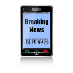 Breaking news smartphone