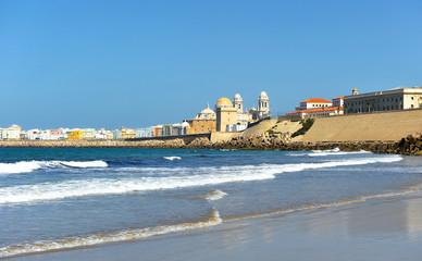 Panoramic view of Cadiz, Andalusia, Spain