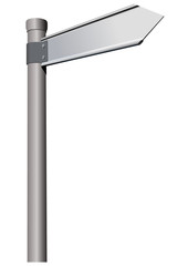 Vector format of metal guidepost on rod