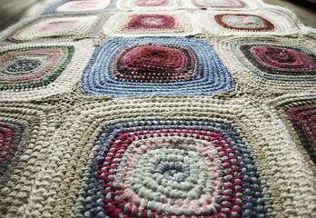 patchwork, braided rug