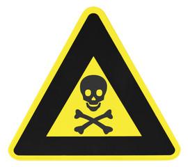 panneau danger, produits toxiques