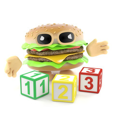 3d Burger learns to count