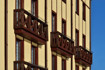 Wooden French balconies