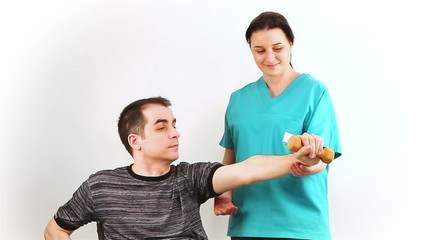 Therapeutic exercise for adults in wheelchair to arms