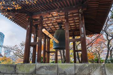 Belfry at Zojoji Temple in Tokyo