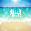 Summer holiday tropical beach background - 66184685