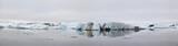 Panorama of Jokulsarlon ice lagoon in Iceland