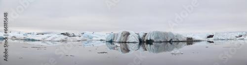 Panorama of Jokulsarlon ice lagoon in Iceland - 66185648