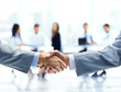 Close up of businessmen shaking hands - 66186012