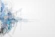 Leinwanddruck Bild - Concept for New Technology Corporate Business & development