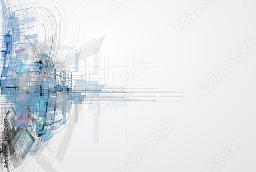 Leinwanddruck Bild Concept for New Technology Corporate Business & development
