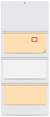 Blank quarterly calendar with spring