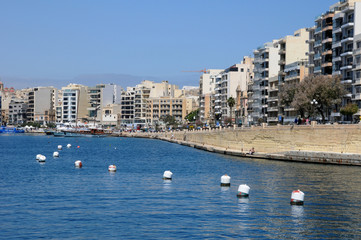 Malta, the picturesque city of Sliema