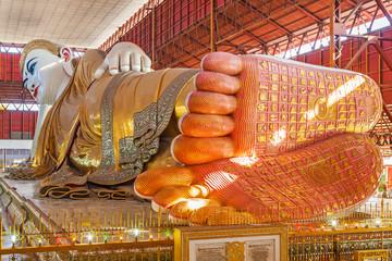 Chauk htat gyi reclining buddha (sweet eye buddha), yangon