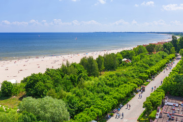 Summer at the beach of Baltic Sea in Sopot, Poland